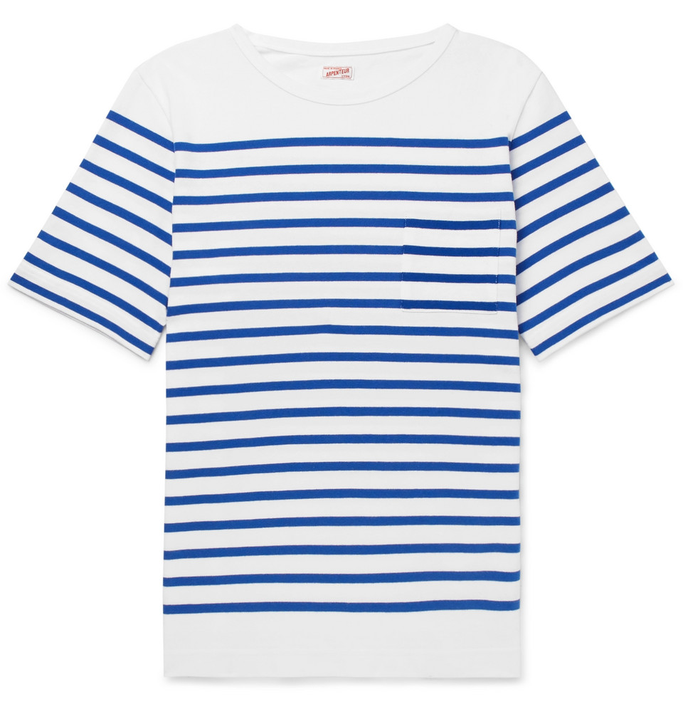 Rachel Striped Combed Cotton-jersey T-shirt - White