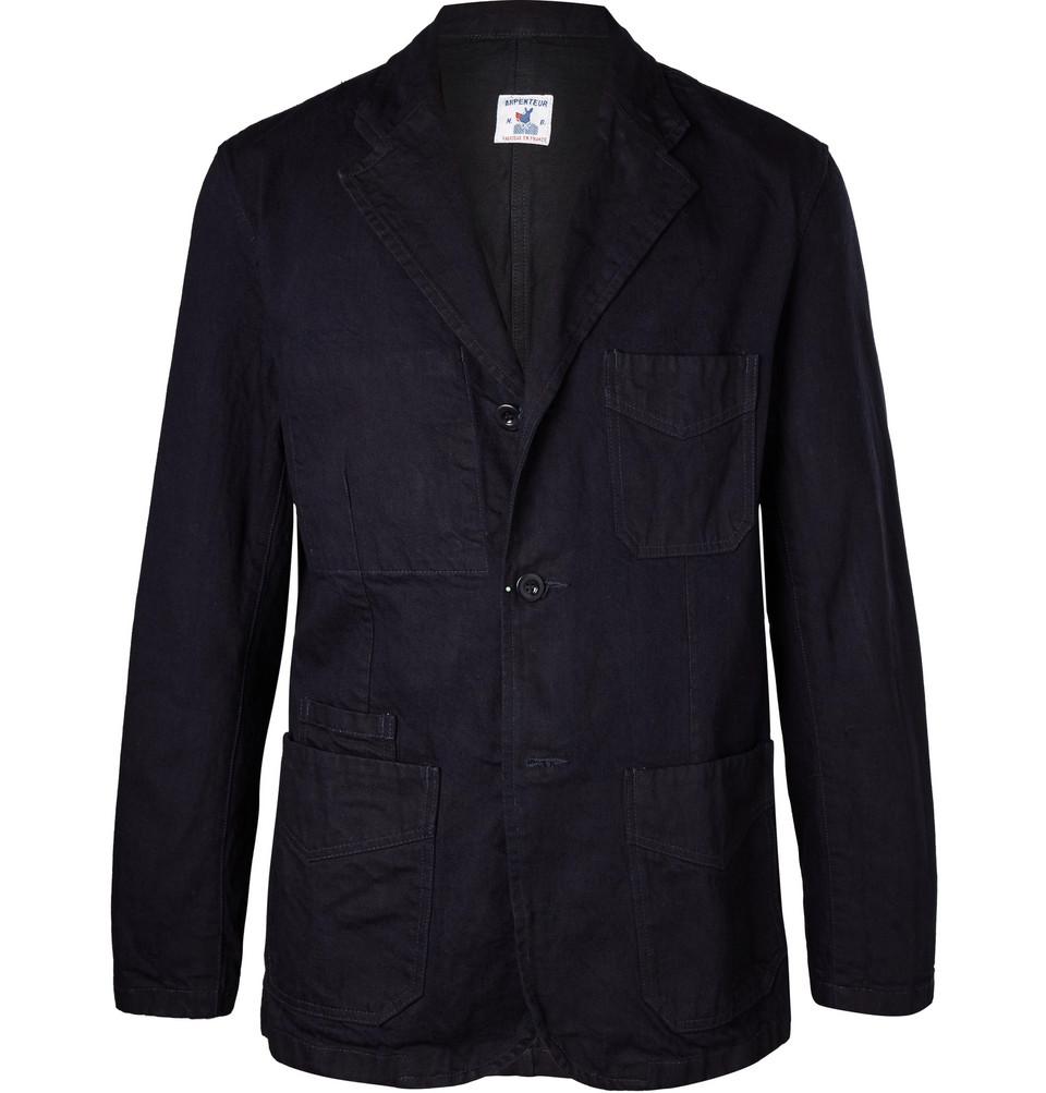 Navy Cotton-twill Blazer - Navy
