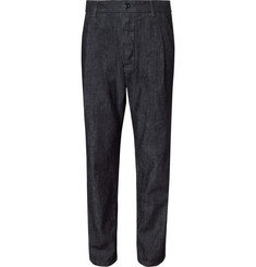 Arpenteur - Tapered Pleated Denim Trousers