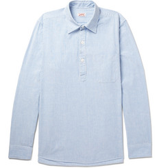 Arpenteur Striped Cotton Half-Placket Shirt