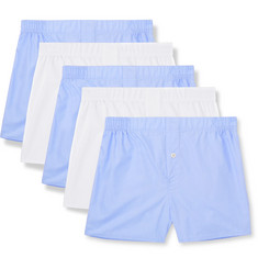 Hamilton and Hare Five-Pack Cotton Boxer Shorts