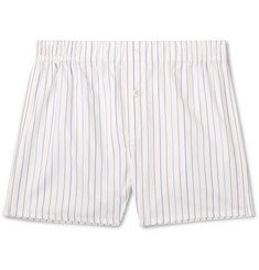 Hamilton and Hare Striped Cotton-Twill Boxer Briefs