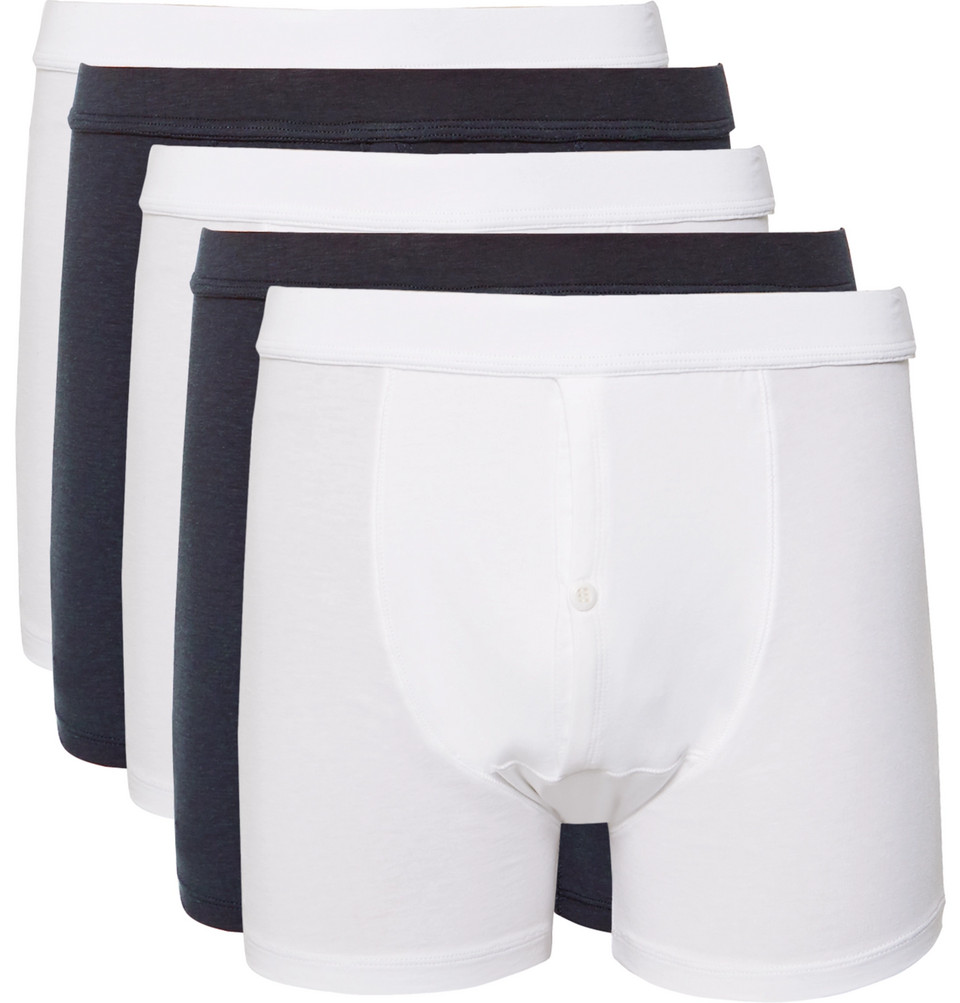 Five-pack Stretch-jersey Boxer Briefs - White