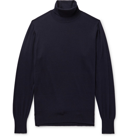 Slim Fit Cashmere Rollneck Sweater by William Lockie