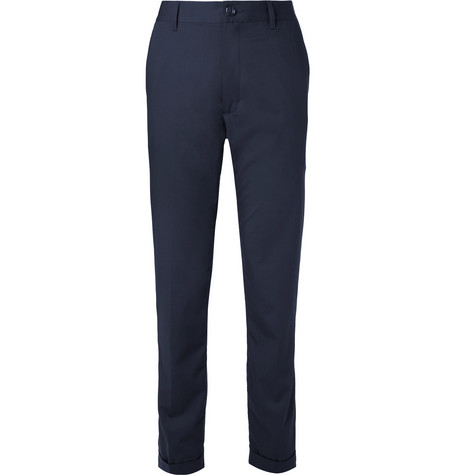 BEAMS Slim-Fit Striped Twill Trousers