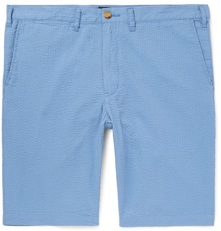 Ivy Slim-fit Cotton-seersucker Shorts Beams Plus Outlet Real ZDbR8r