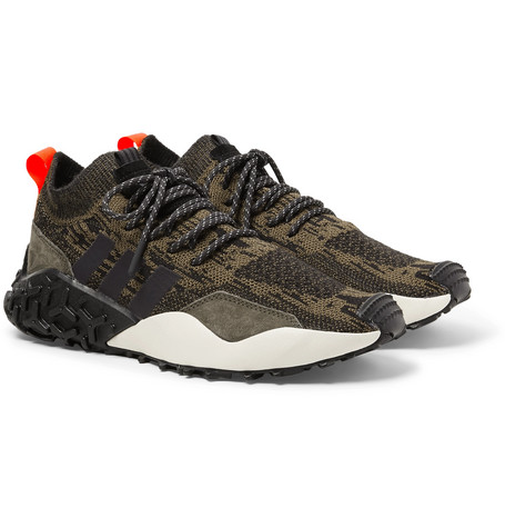 fbc0da4ba9e72 Adidas Originals Atric F 2 Tr Suede-Trimmed Primeknit Sneakers In Black