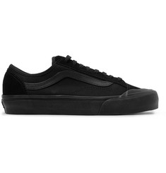 Vans Style 36 Decon SF Leather-Trimmed Canvas and Suede Sneakers