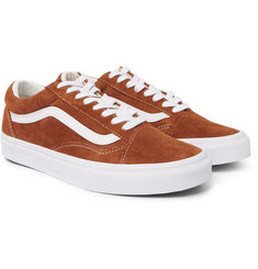 Vans - Old Skool Leather-Trimmed Suede Sneakers
