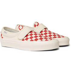 Vans - Anaheim 47 V DX Checkerboard Canvas Slip-On Sneakers