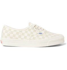 Vans OG Authentic LX Suede-Trimmed Checkerboard Canvas Sneakers