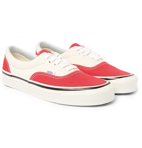 Vans Anaheim Era 95 Dx Two-Tone Canvas Sneakers In Red
