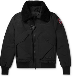 Canada Goose - Bromley Shearling-Trimmed Canvas Down Bomber Jacket