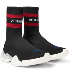 Vetements - + Reebok Sock Pump Stretch-Knit Sneakers