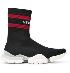 Vetements + Reebok Sock Pump Stretch-Knit Sneakers