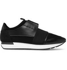 Balenciaga Race Runner Neoprene, Leather and Mesh Sneakers