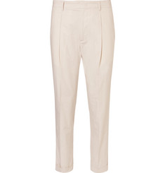 Mr P. - Tapered Cotton-Poplin Chinos