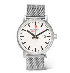 Mondaine - Evo Big Date Brushed Stainless Steel Watch