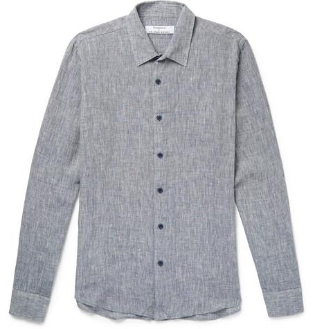 KINGSMAN + Orlebar Brown Morton Slim-Fit Slub Linen Shirt