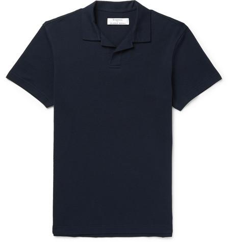KINGSMAN + Orlebar Brown Felix Cotton-Piqué Polo Shirt