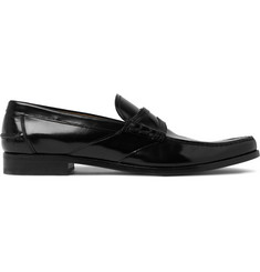 Prada Spazzolato Leather Loafers