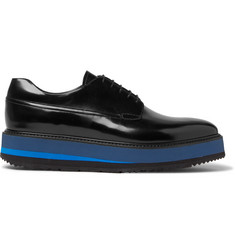 Prada Spazzolato Leather Derby Shoes