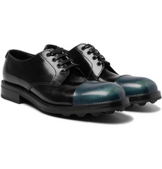 Prada - Cap-Toe Spazzolato Leather Derby Shoes
