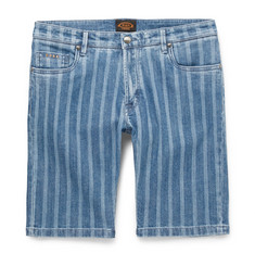 Tod's Slim-Fit Striped Stretch-Denim Shorts