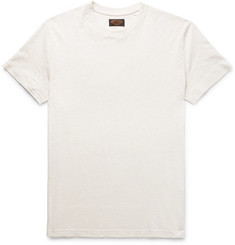 Tod's Embroidered Cotton and Linen-Blend T-Shirt
