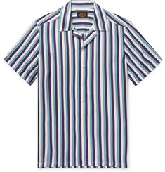 Tod's - Camp-Collar Striped Silk-Twill Shirt