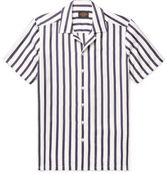 Tod's Camp-Collar Striped Silk-Twill Shirt