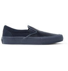 Vans + Engineered Garments OG Classic LX Leather and Suede Slip-On Sneakers