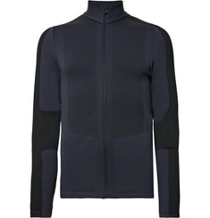 FALKE Ergonomic Sport System Pietro Panelled Stretch-Knit Zip-Up Mid-Layer