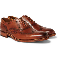 Grenson - Dylan Burnished-Leather Wingtip Brogues