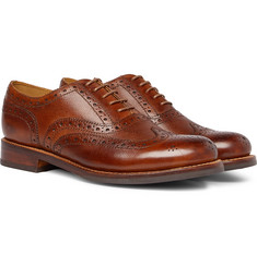 Grenson - Stanley Cross-Grain Leather Wingtip Brogues