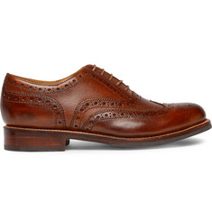 Grenson Stanley Cross-Grain Leather Wingtip Brogues