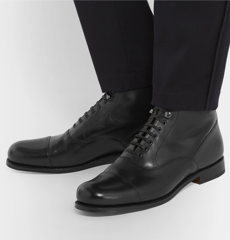 leander-cap-toe-leather-boots by grenson