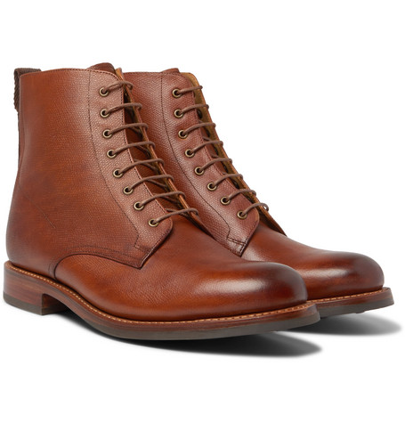 Murphy Burnished Textured Leather Boots by Grenson