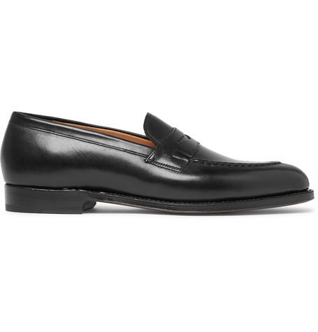863b7143ed4 Grenson Lloyd Leather Penny Loafers In Black