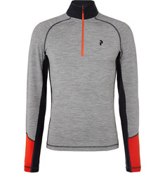 Peak Performance - Slim-Fit Merino Wool-Blend Half-Zip Base Layer