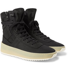 Fear of God - Jungle Nubuck and Canvas High-Top Sneakers
