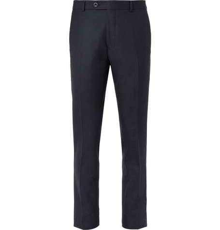 Navy Worsted Wool Trousers by Mr P.