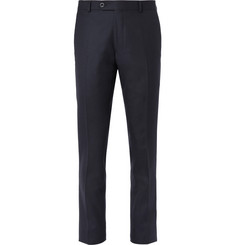 Mr P. - Navy Worsted Wool Trousers