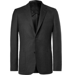 Mr P. - Grey Unstructured Worsted Wool Blazer