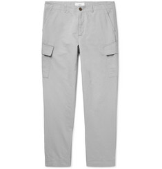 Mr P. - Tapered Cotton and Linen-Blend Cargo Trousers