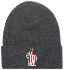 Moncler Grenoble - Logo-Appliquéd Ribbed Virgin Wool Beanie