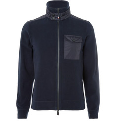 Moncler Grenoble - Maglia Shell-Panelled Fleece Zip-Up Base Layer