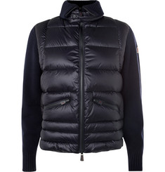 Moncler Grenoble - Wool-Blend and Quilted Shell Down Ski Sweater