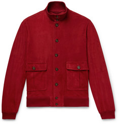 Valstar - Valstarino Slim-Fit Unlined Suede Bomber Jacket