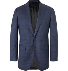 Thom Sweeney - Navy Slim-Fit Prince of Wales Checked Wool-Blend Suit Jacket